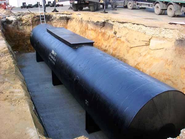 Гидроизоляция подземных стальеных резервуаров гидроизоляция напылениемдвухкомпонентный материал с пробковым наполнителем